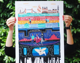 Limited edition Neverwhere art print - A2 420 x 594