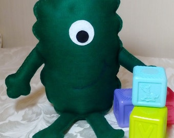 Toy Monster, Monster, Green, Felt Monster, Friendly Monster, Childrens Toy, CE Tested, Soft Toy, Boys Toys, Girls Toys, Large