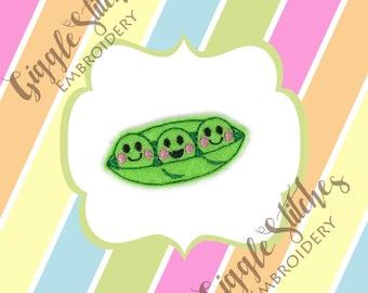 Pea Pod Feltie Embroidery Design