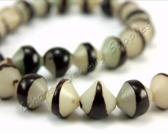 Buri Nut Beads, 5 pcs Buri Seed Beads, (12mm x 12mm) Natural Buri Beads, Buri Palm Natural Beads, Buri Bicone Beads, Nut Beads, Buri Beads