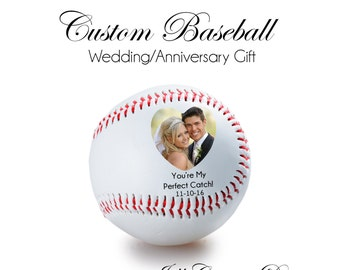WEDDING GIFT, ANNIVERSARY gift, Personalized Baseball - your photo on a baseball, Custom Baseball, personalized gift, boyfriend gift