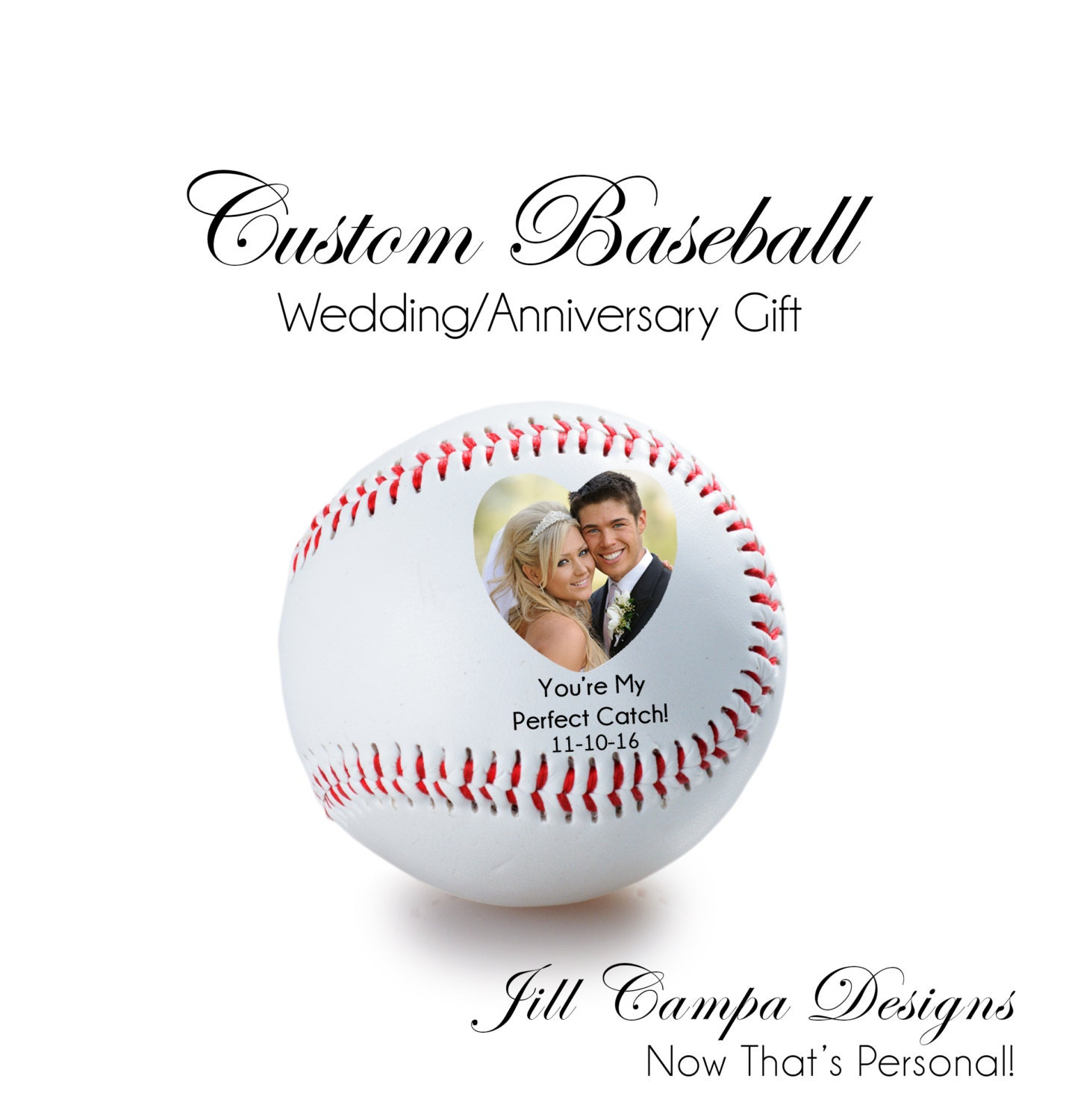 Baseball Wedding Gifts: WEDDING GIFT ANNIVERSARY Gift Personalized Baseball Your