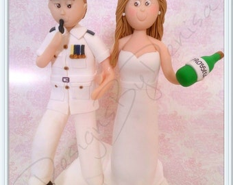 Personalised Wedding Topper Bride Groom Clay Figurines Wedding Cake Topper