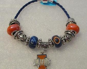 1317 - University of Illinois Bracelet