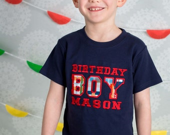 Birthday Boy Shirt with Embroidered Name -  F74