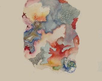 Watercolor Crystal Painting