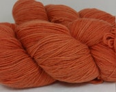 wool/angora blend in a DK weight yarn