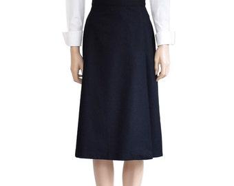 Black wool skirt | Etsy