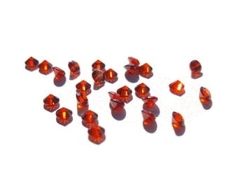 5 or 10-Pack of Garnet Red Stardust Crystals for Floating Lockets-2.8mm-Gift Idea