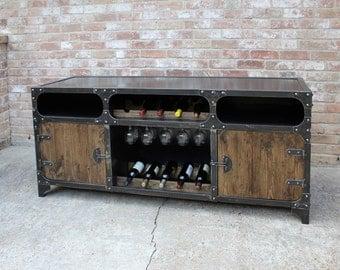 Industrial Wine Cabinet / Wine Rack / Bar / Liquor cabinet / Wine storage / Buffet / Sideboard