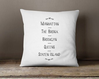New york pillow cover, new york city pillow,new york cushion, black and white new york pillow, decorative cushion cover,new york cushion