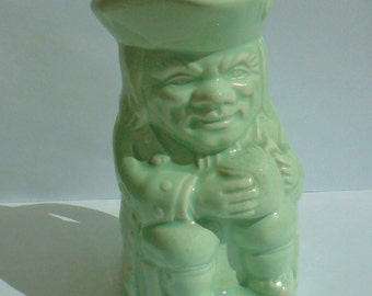 Toby Jug KSP England character jug pale green jug mini
