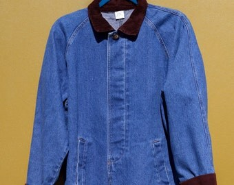 90's Denim Jacket with Corduroy Collar and sleeves