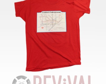 Vintage London Underground T Shirt ~ M-L