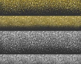 80% OFF SALE Glitter Borders, Glitter Clipart, Glitter Clip Art, Glitter Overlay, Printable Commercial Use