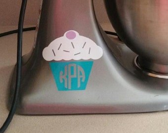 Kitchen Mixer Cupcake Decal | OnSkinkerLane