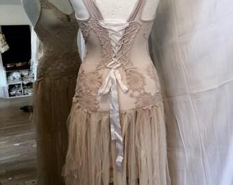 Vintage inspired wedding dress .Alternative wedding, Vintage wedding gowns, fairy wedding dress , lace dress , lace up wedding dress ,