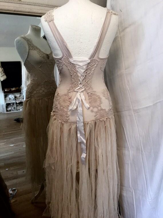 Vintage inspired wedding dress alternative wedding by for Fairy inspired wedding dresses