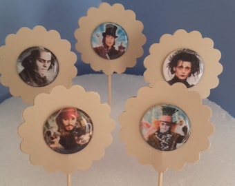 Cupcake Toppers, Toppers, Party Topper, Birthday Toppers, Cake Toppers, Party Decorations, Party Decor,  Birthday Party