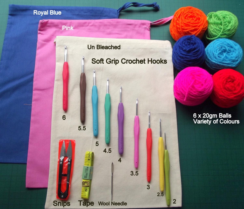 Beginner Knitting Kits Canada : Beginners crochet starter kit including soft grip