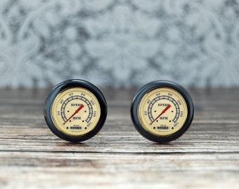 Speedometer cufflinks , driver gift , sepia cufflinks , vintage cufflinks , racing cufflinks , car cufflinks ,