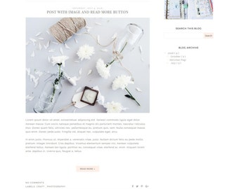 Pink Blogger Template - Premade Blogger Template - Minimalist Blog Design - Blogspot Template ' LILY'
