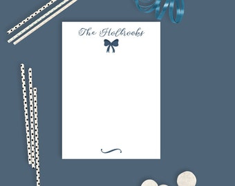 Custom Personalized Notepads - Pink and Navy - Personalized Notepads - 50 Pages