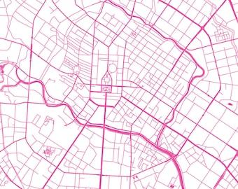 Chengdu Map - Roads - Chengdu Print - City Map Art of Chengdu, China