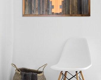 """Reclaimed Wood Wall Art [33""""x17""""] -- Texas Longhorns - Team Pride"""