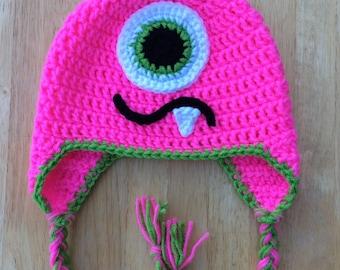 Monster Hat, Made to Order, Crochet Baby Hat, Monster Birthday Hat, Photo Prop, Hat for Kids, Crochet Monster Hat, Baby Shower Gift