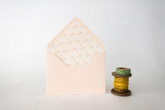 watercolor floral lined envelopes - sets of 10