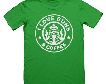 I Love Guns & Coffee T-Shirt
