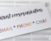 Parent Communication Headers for Erin Condren Teacher Planner