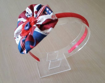 Red Headband, White Headband, Blue Headband, Plastic Headband, Flower Girl Headband, 4 of July Girl Headband, Country Girl Headband