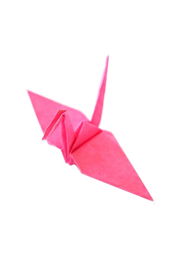 Pink paper cranes 50 japanese wedding decoration hot pink for 1000 paper cranes wedding decoration