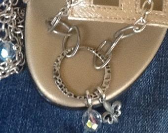 Fleur De Lis Necklace Boho Chic Women's Necklace Long Necklace