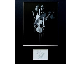 SIMON and GARFUNKEL AUTOGRAPH photo display