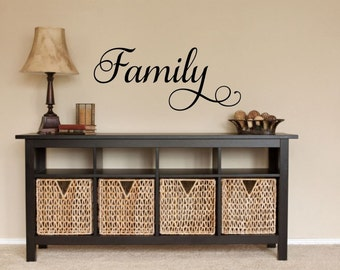 Family Decal Family Wall Decal Picture Wall Decal Family Vinyl Decal Family Word Decal Vinyl Family Decal Family Wall Words Family Decor