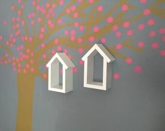 Shelf - Wood Shelf- Nursery Decor - Shadow Box Frame - Nursery Shelf - Wood Shelf - Home Decor - Wooden Box - Wood Birdhouse Shelf - Box