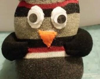 Hand Made Sock Owl