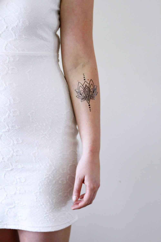 Lotus Temporary Tattoo Bohemian Temporary Tattoo Boho