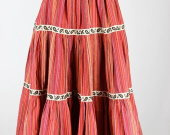 1950s Vintage Red Circle Skirt