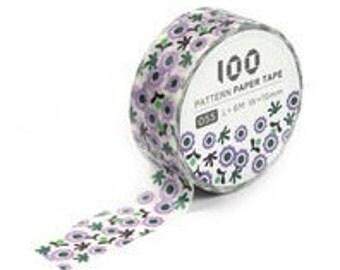 Purple flower washi tape