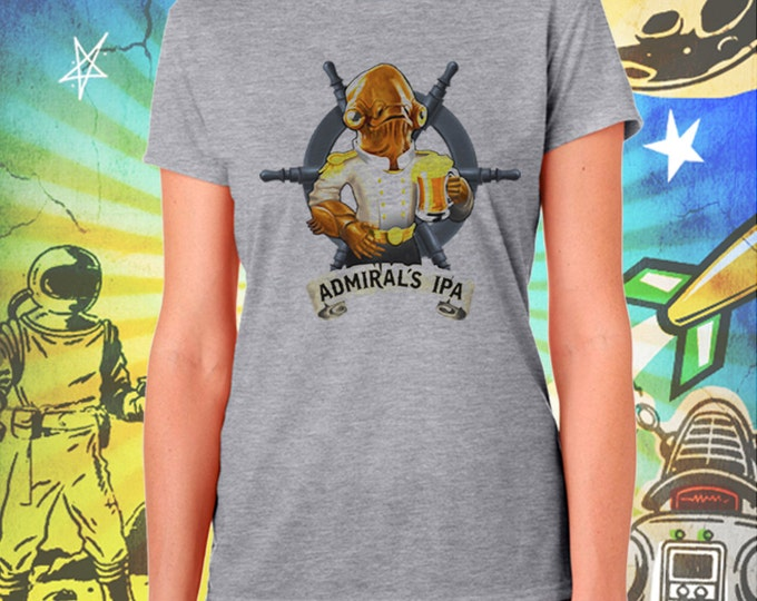 Admiral's IPA Women's Gray Women's Tee Star Wars Beer Tshirt