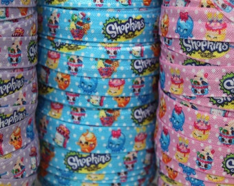 SALE***Character 5/8 -Fold Over Elastic 5/8 inch by the yard...Print FOE, Headbands, Hair Ties and More!
