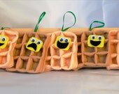 Waffle Plush Ornament - Novelty Gifts - Funny Gifts for Friends - Funny Ornament - Christmas Ornament - Personalized Ornament Food Ornament