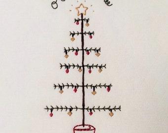 "5x7""  'O Christmas Tree' embroidery pattern"