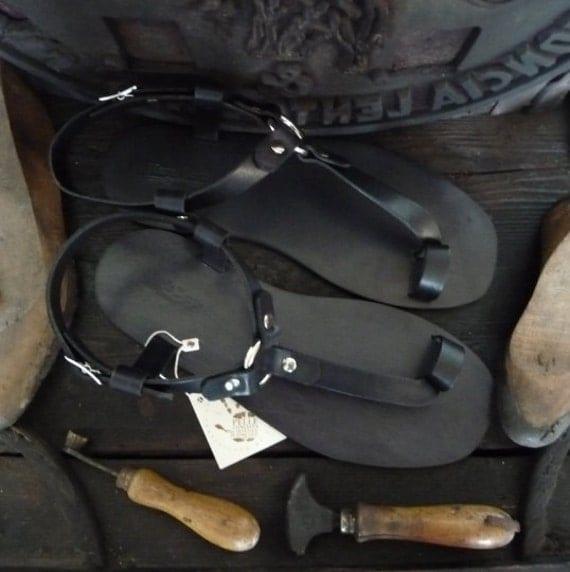 sandales la main en cuir v g tal tann pour hommes en cuir. Black Bedroom Furniture Sets. Home Design Ideas