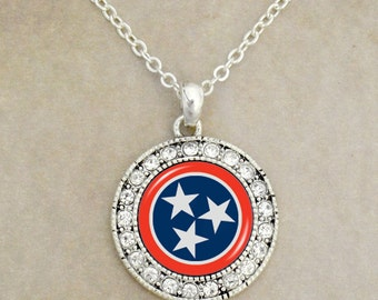 Tennessee Flag Necklace - TENFLG47283