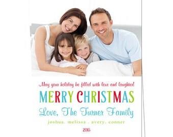 Holiday Photo Card - Christmas Photo Card - Printable Christmas Card - Printable Holiday Card - Digital Card